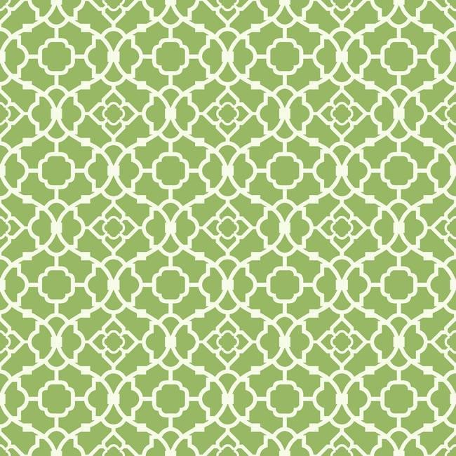 Lovely Lattice Wallpaper in Green and Ivory design by York Wallcoverin 650x650