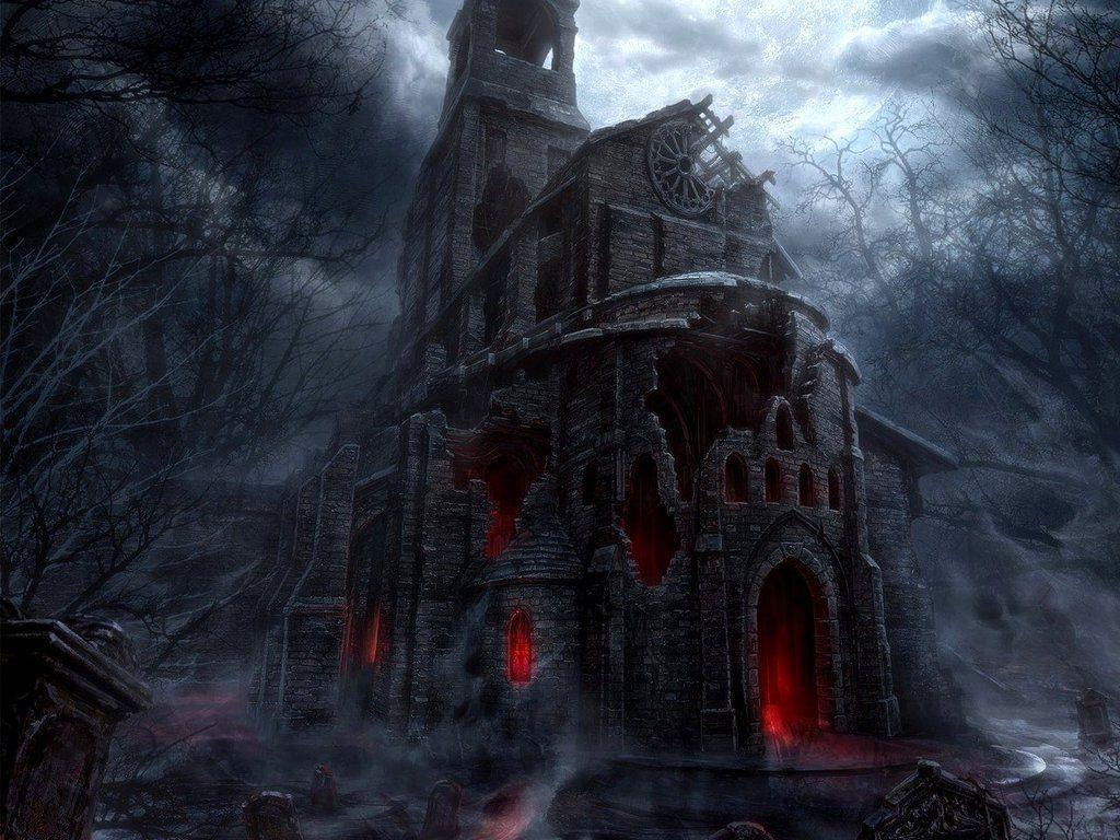 Haunted House Wallpapers 1024x768