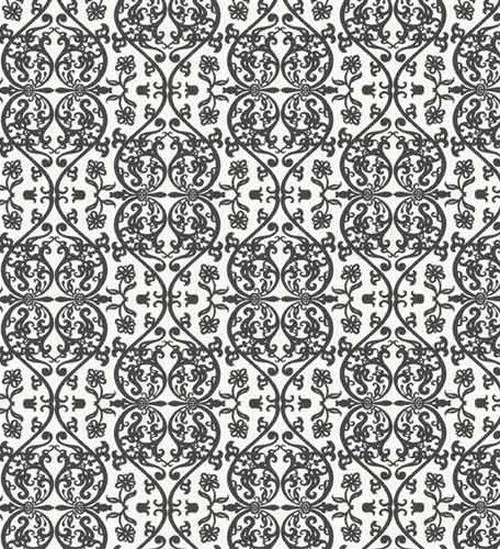 Retro Black And White Damask Wallpaper Flickr Photo Sharing 456x500