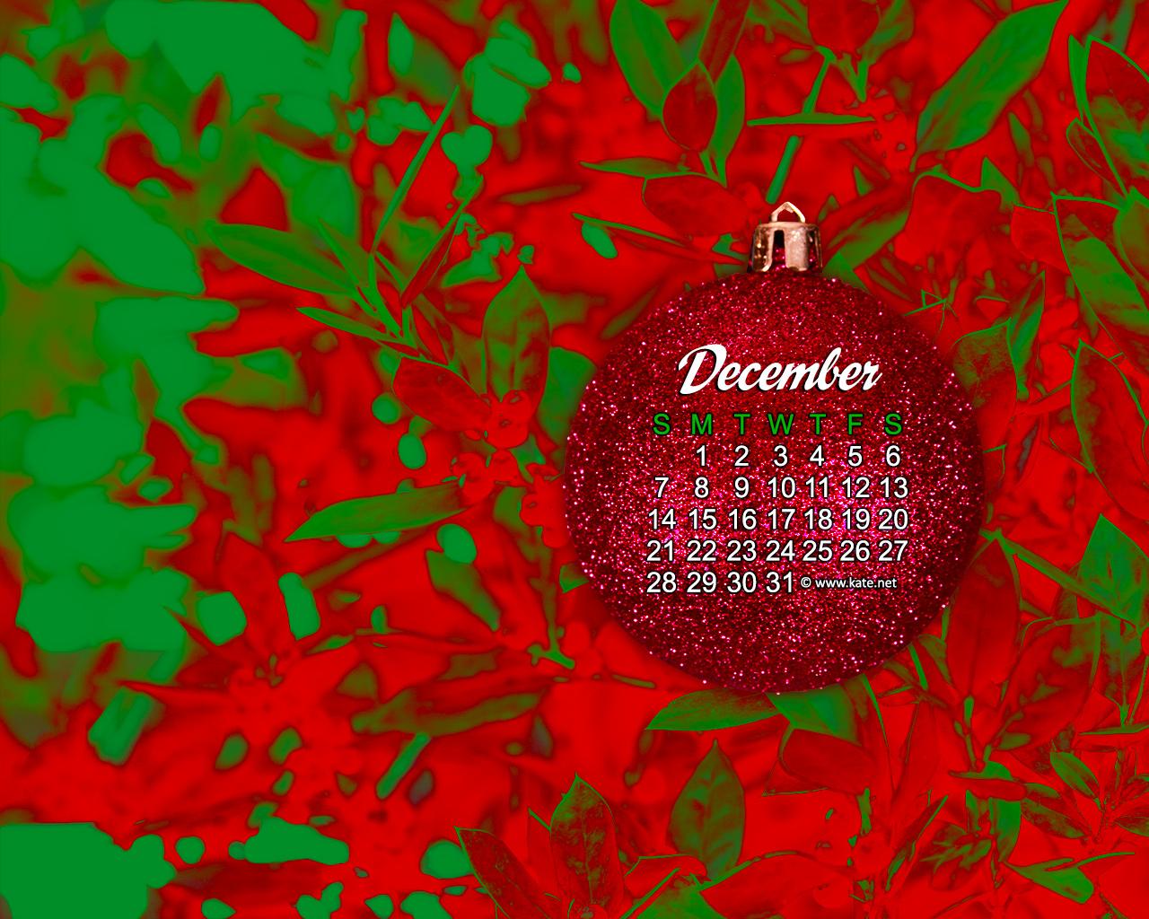 December 2014 Calendar Wallpaper 1280x1024