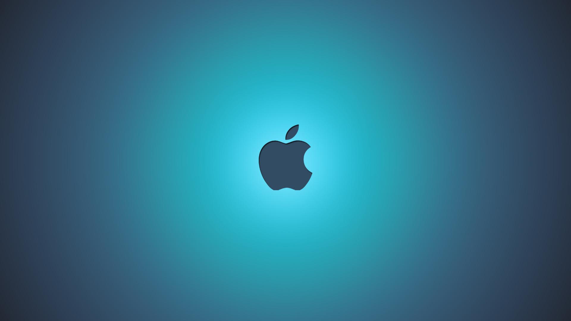 Apple Blue Background Wallpaper Desktop Wallpaper with 1920x1080 1920x1080