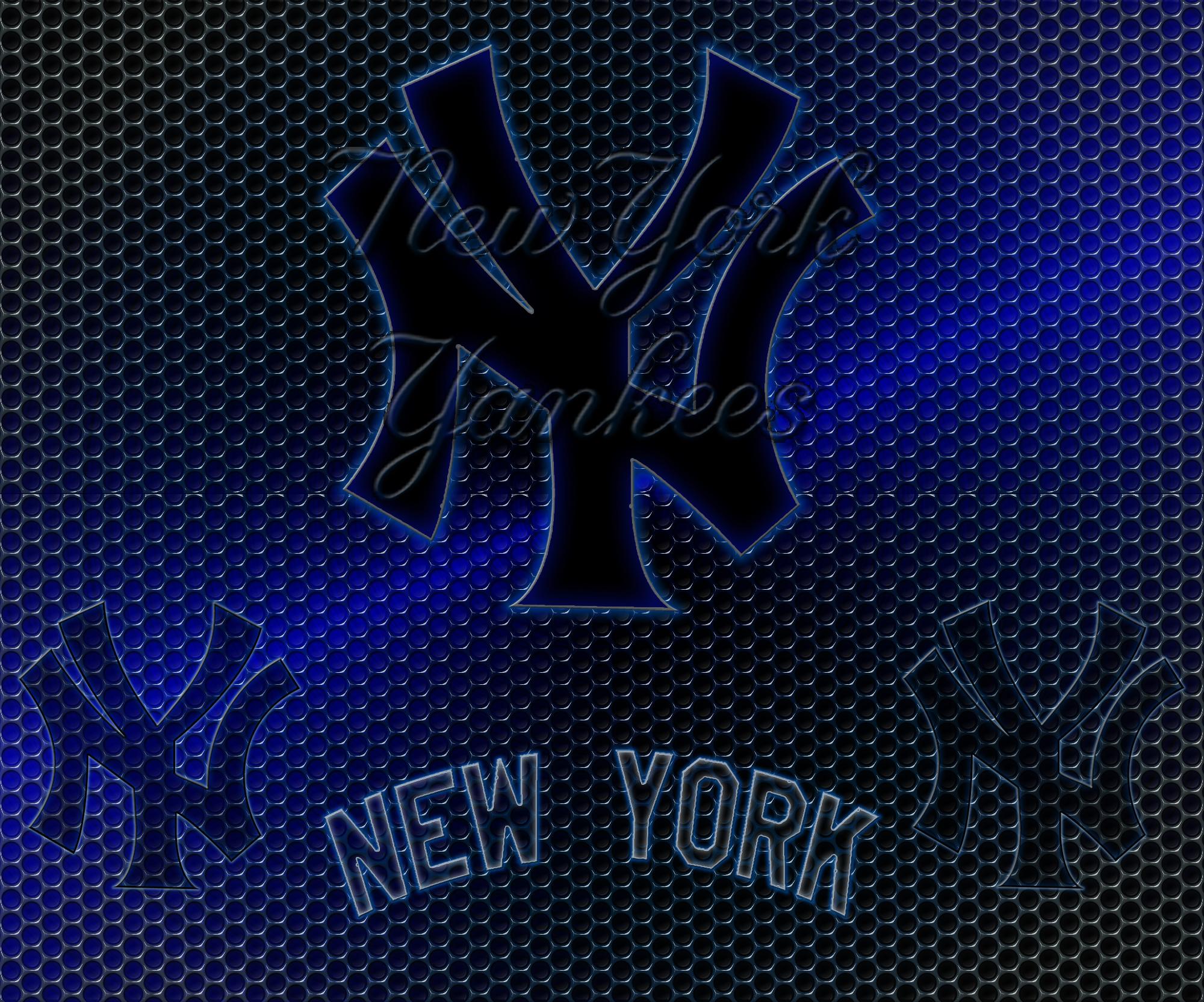 New York Yankees Logo Grid Wallpaper Download Wallpaper 2000x1665