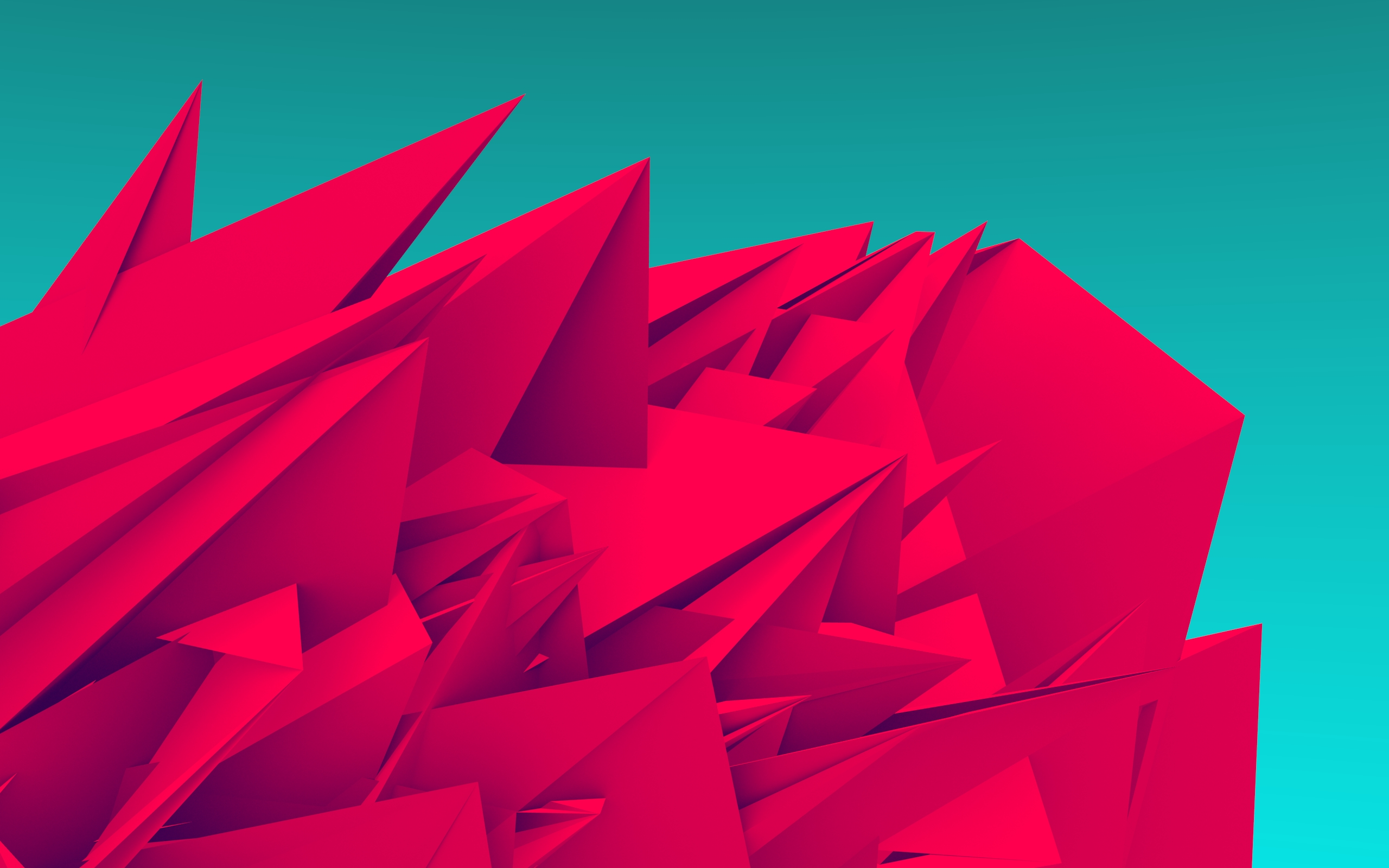 Android Wallpaper Low Poly Art 2560x1600