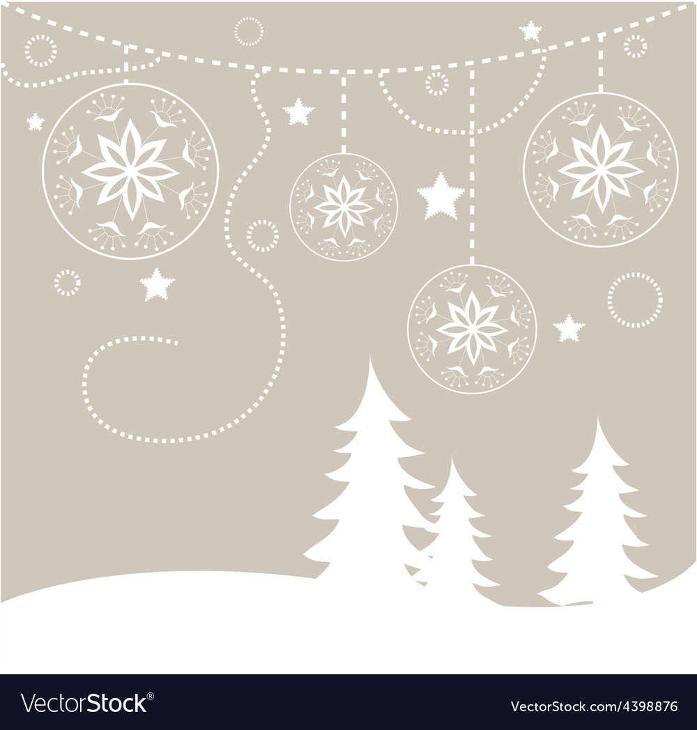 Chirstmas card background Royalty Vector Image 1000x1048