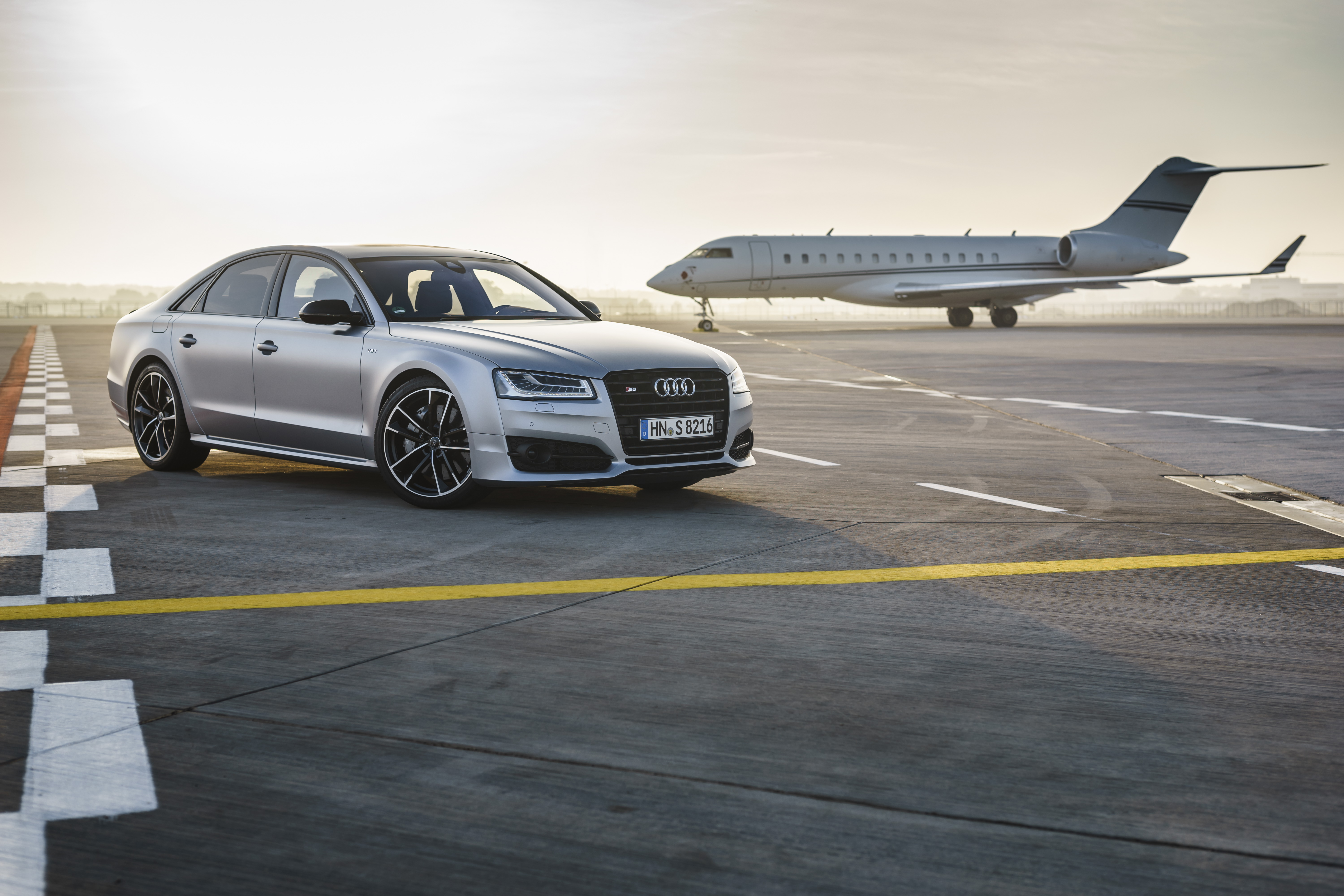 The Audi S8 plus at Frankfurt Airport 5k Retina Ultra HD 6000x4000
