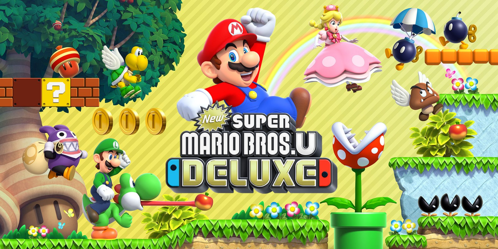 New Super Mario Bros U Deluxe Nintendo Switch Games Nintendo 1600x800