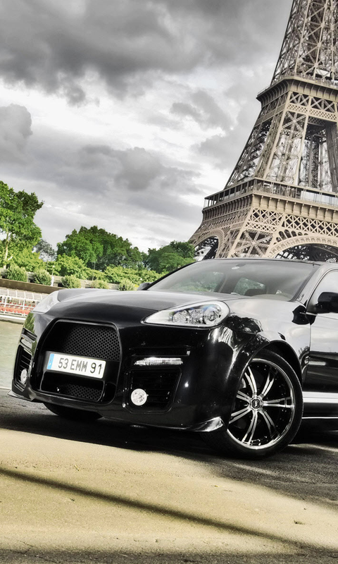 Beautiful Black Car live wallpaper Live wallpapers HD for Android 480x800