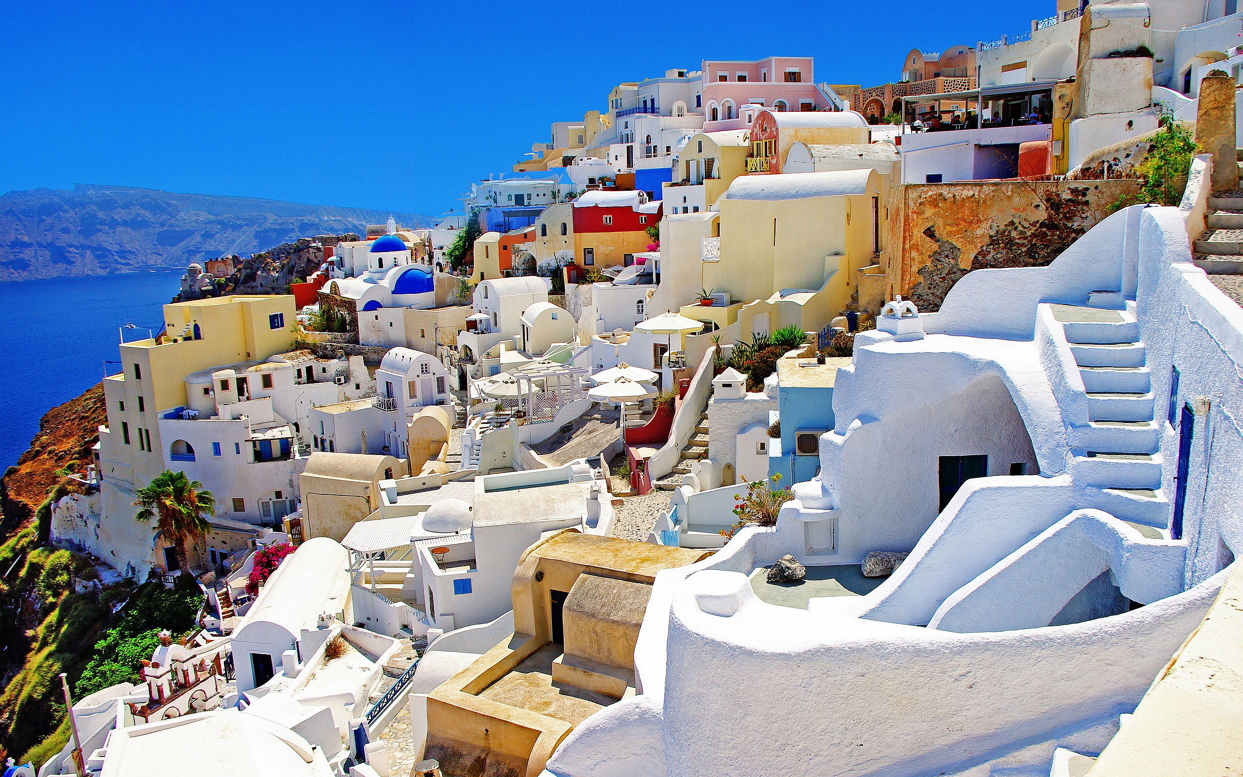 Santorini White Beach HD Wallpaper Background Images 2560x1600