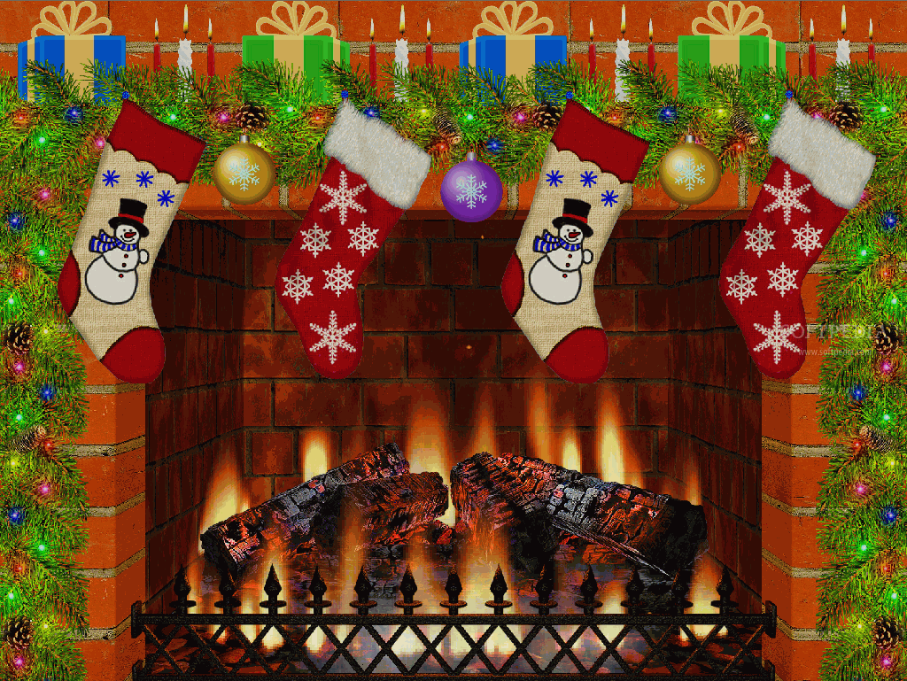 Christmas Fireplace Screensaver   This window offers users a beautiful 1024x769