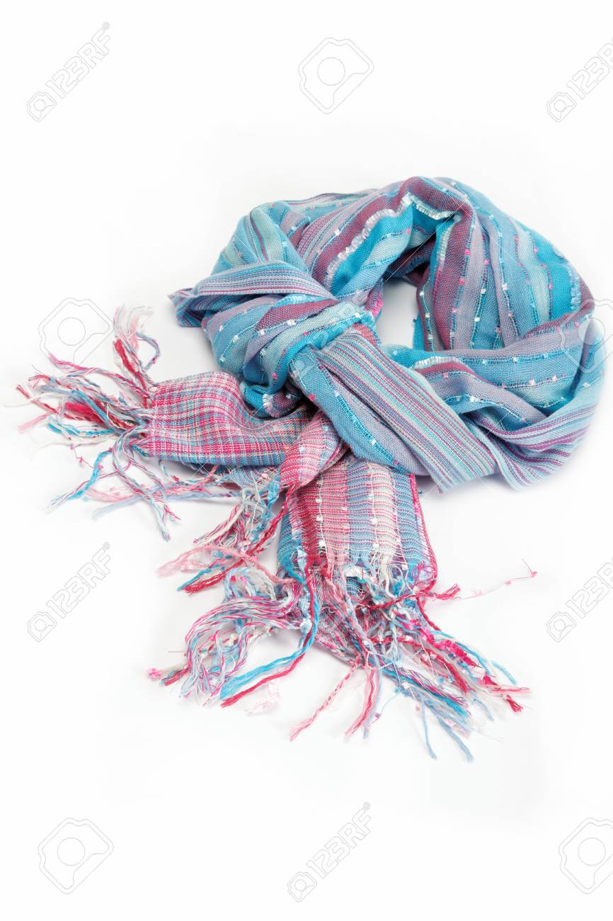 Shawl Or Scarf With Tassels Isolated On White Background Stock 866x1300