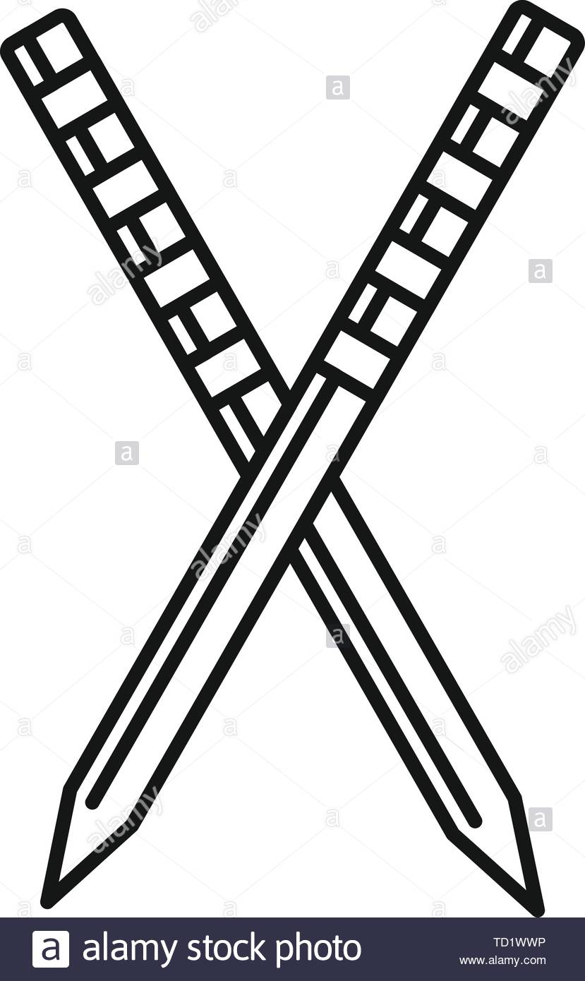 Croquet stick icon Outline croquet stick vector icon for web 829x1390