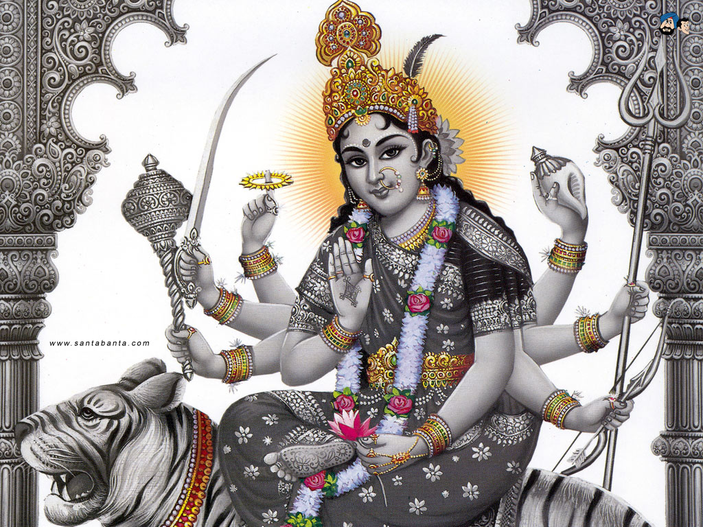 Download Goddess Durga HD Wallpaper 21 1024x768
