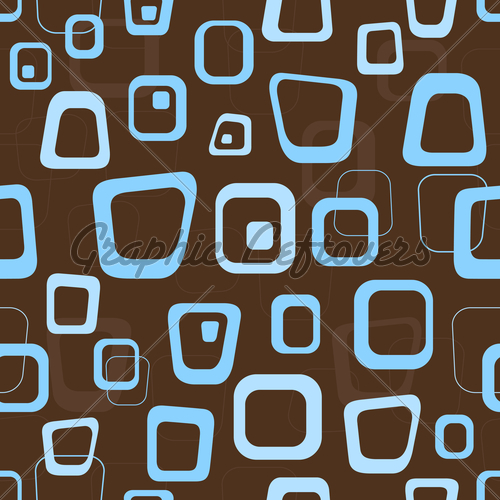 Seamless Retro Brown And Blue Background Pattern 500x500