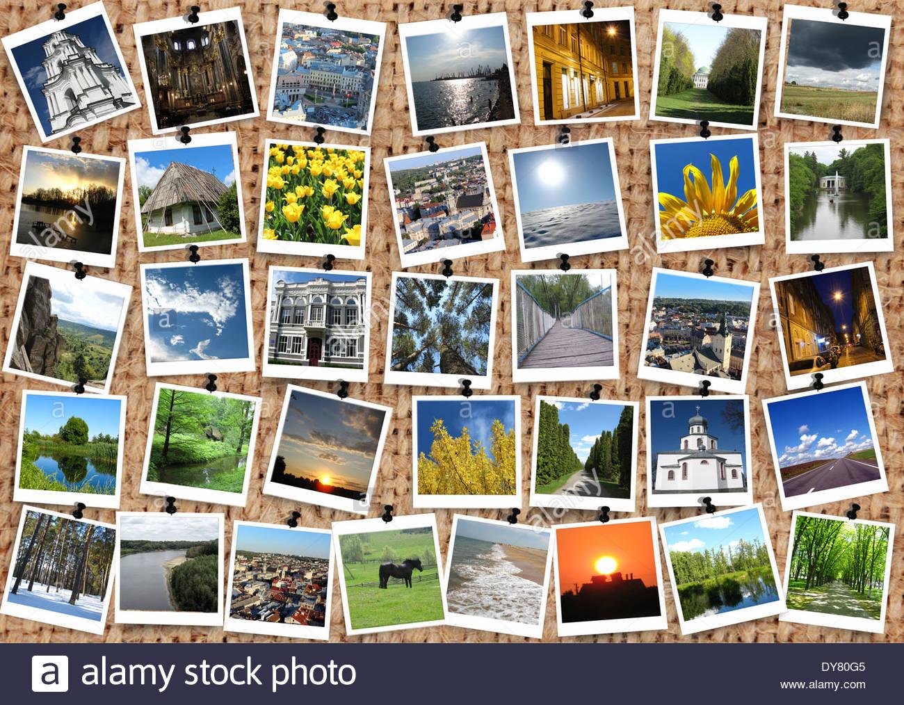 many motley images on the sacking background Stock Photo 68402885 1300x1014