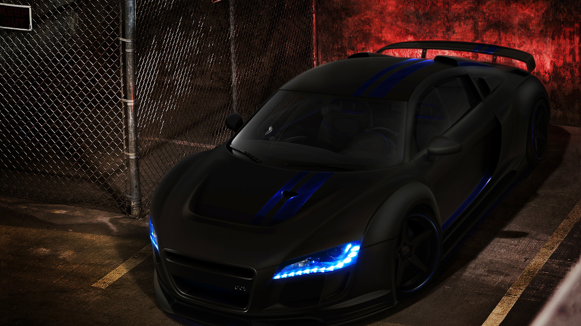 Wallpaper audi r8 black black tuning cars large 1920x1080 on the 1920x1080