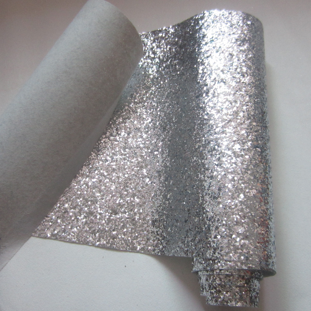 Chunky Silver glitter wallpaper roll wall covering plain wall paper 1000x1000