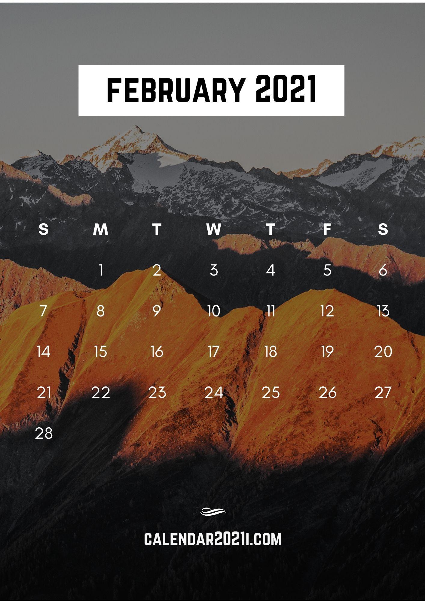iPhone February 2021 Calendar Wallpapers Download Calendar 2021 1414x2000