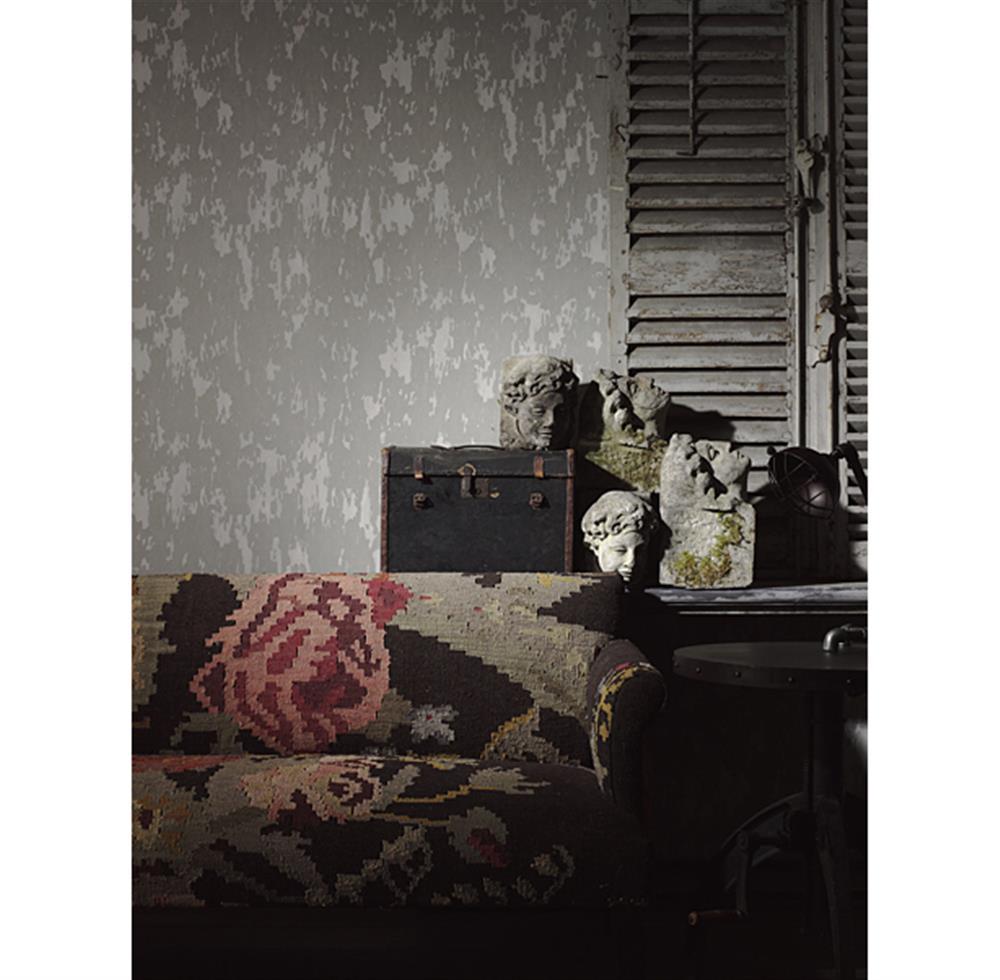Distressed Plaster Industrial Loft Wallpaper   Grey Permanent 1000x980