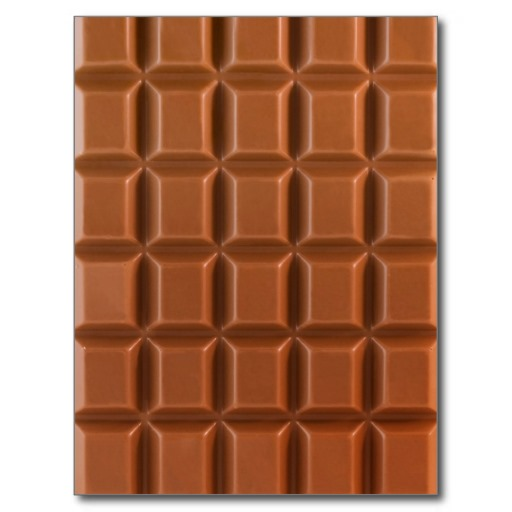 Chocolate bar background postcard Zazzle 512x512
