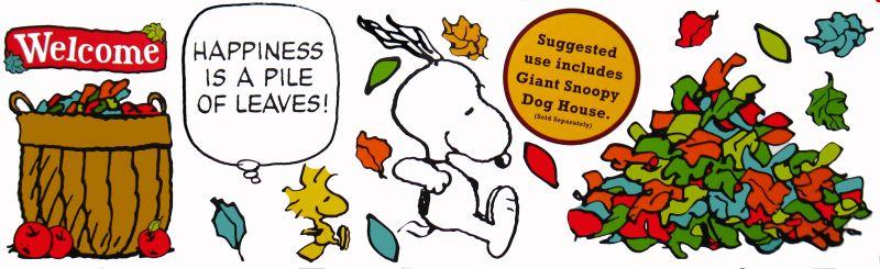 Snoopy Fall Bulletin Board Wall Decor Set Snoopn4pnutscom 800x245