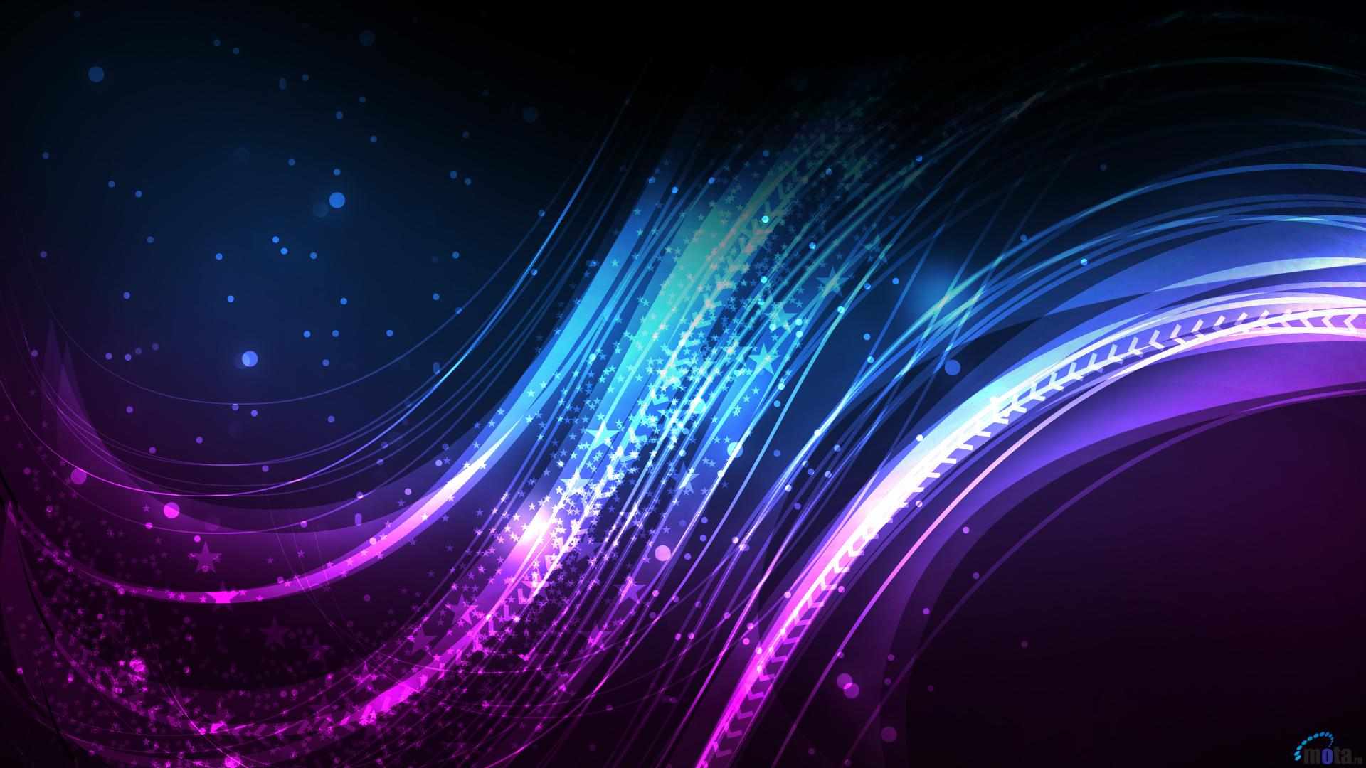 Download Wallpaper Purple lines and curves 1920 x 1080 HDTV 1080p 1920x1080