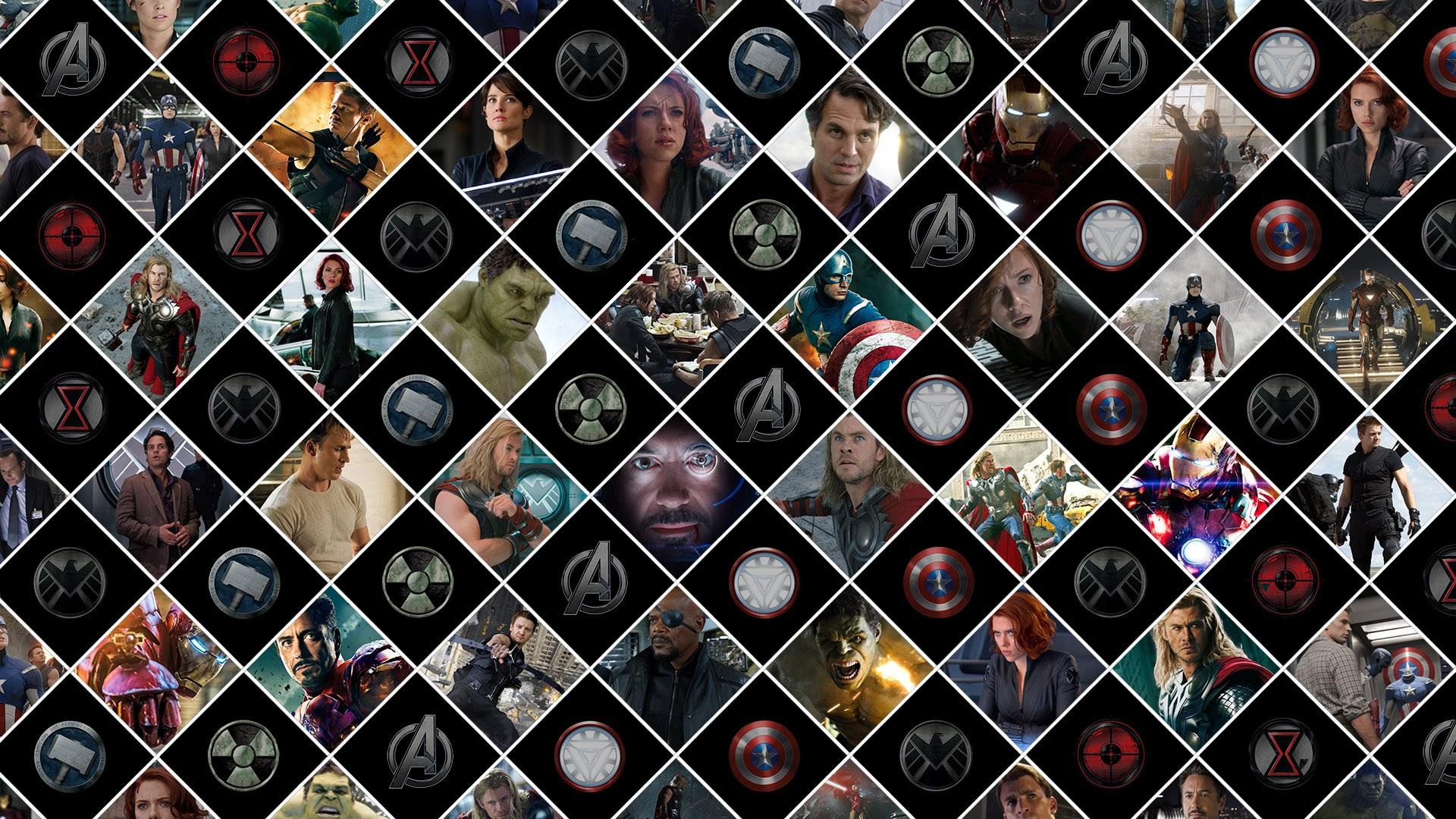 Avengers Marvel Pattern superhero comics wallpaper 1920x1080 1920x1080