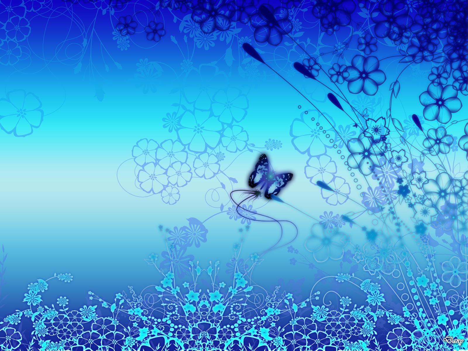 Floral Blue desktop wallpaper 1600x1200