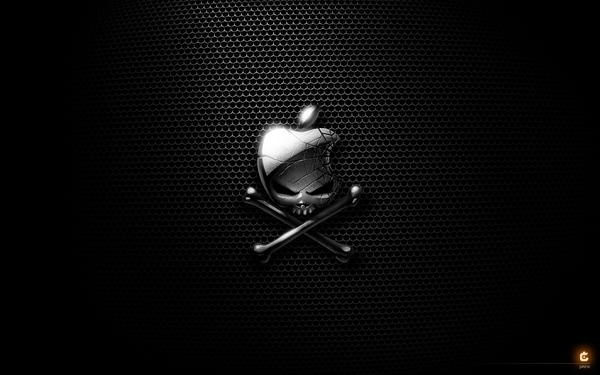 crossbones apple inc skull and crossbones logos 1920x1200 wallpaper 600x375