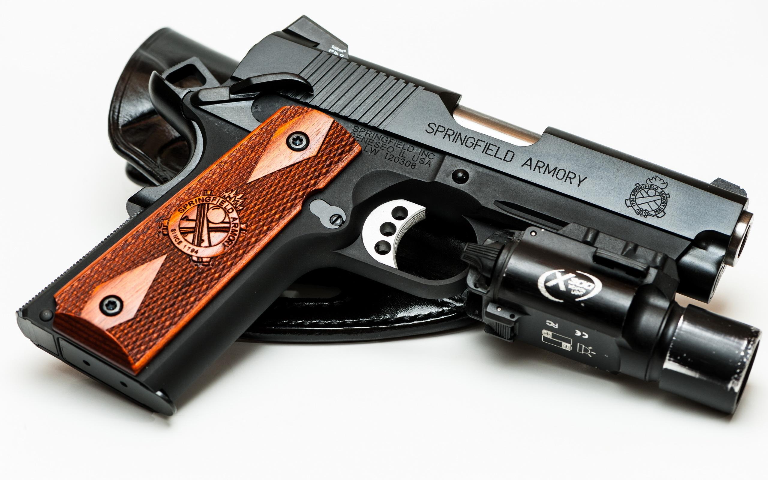Springfield Armory 1911 Pistol Weapon Pistol Gun Handgun Wallpaper 2560x1600