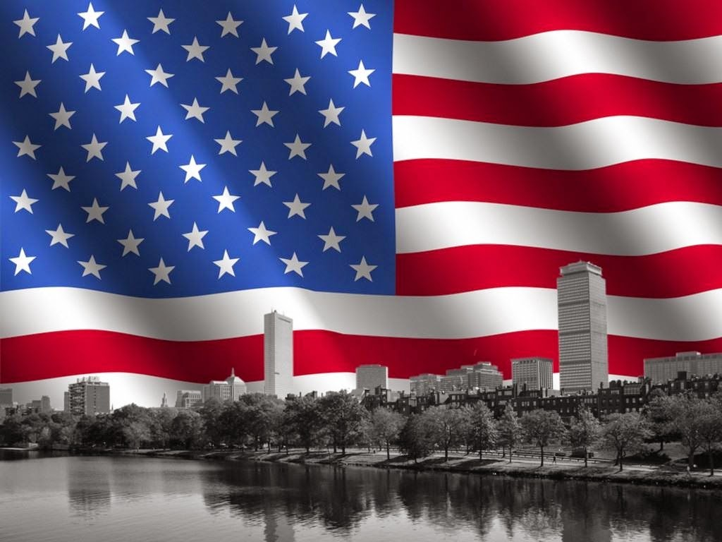 USA American Flag with New York Desktop Backgrounds Image 1024x768