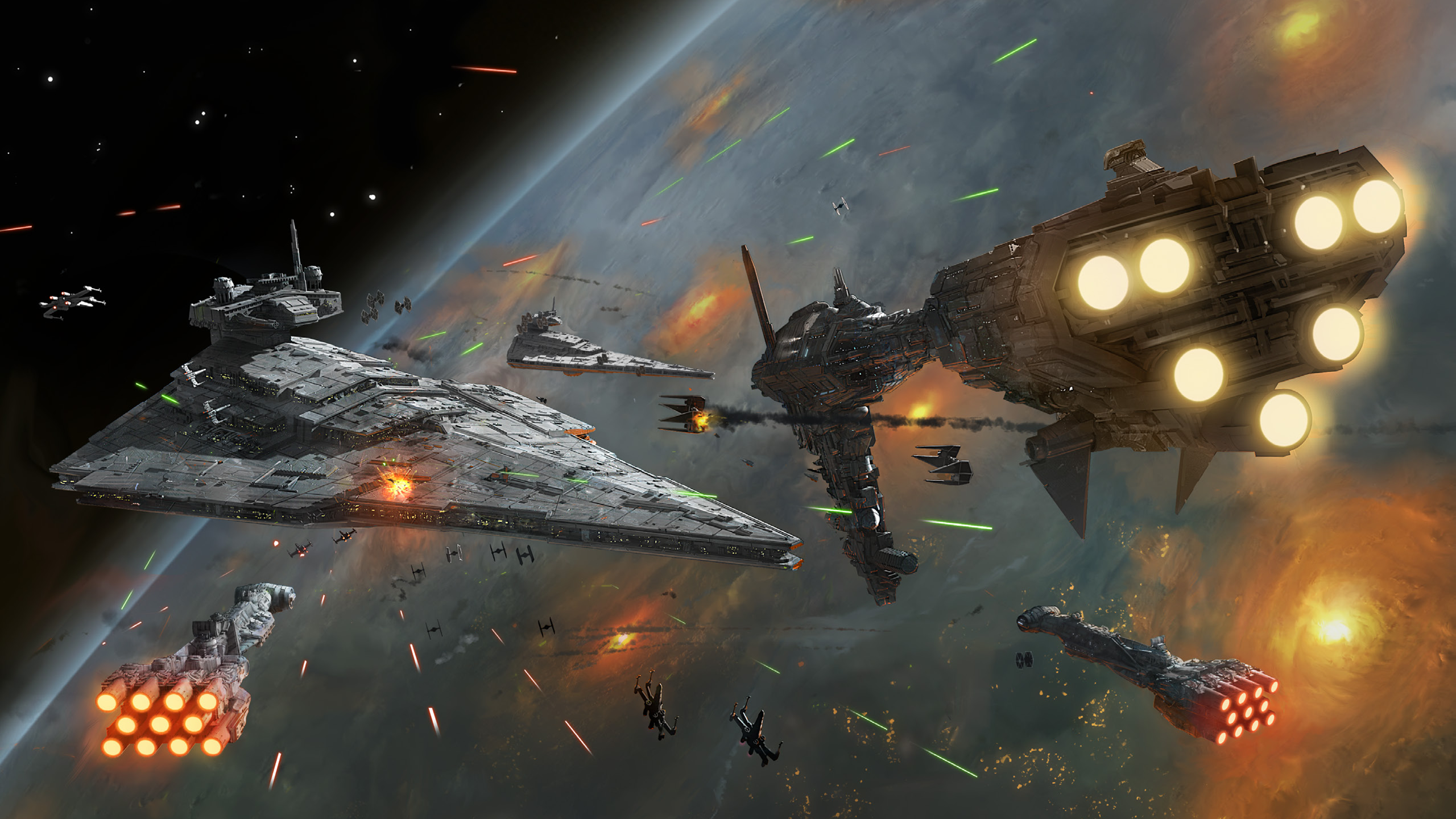An eclectic collection of backgrounds Iconic Spaceships Space 2560x1440