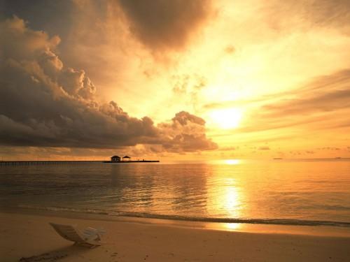 Beach Sunset Screensaver Screensavers   Download Beach Sunset 500x375