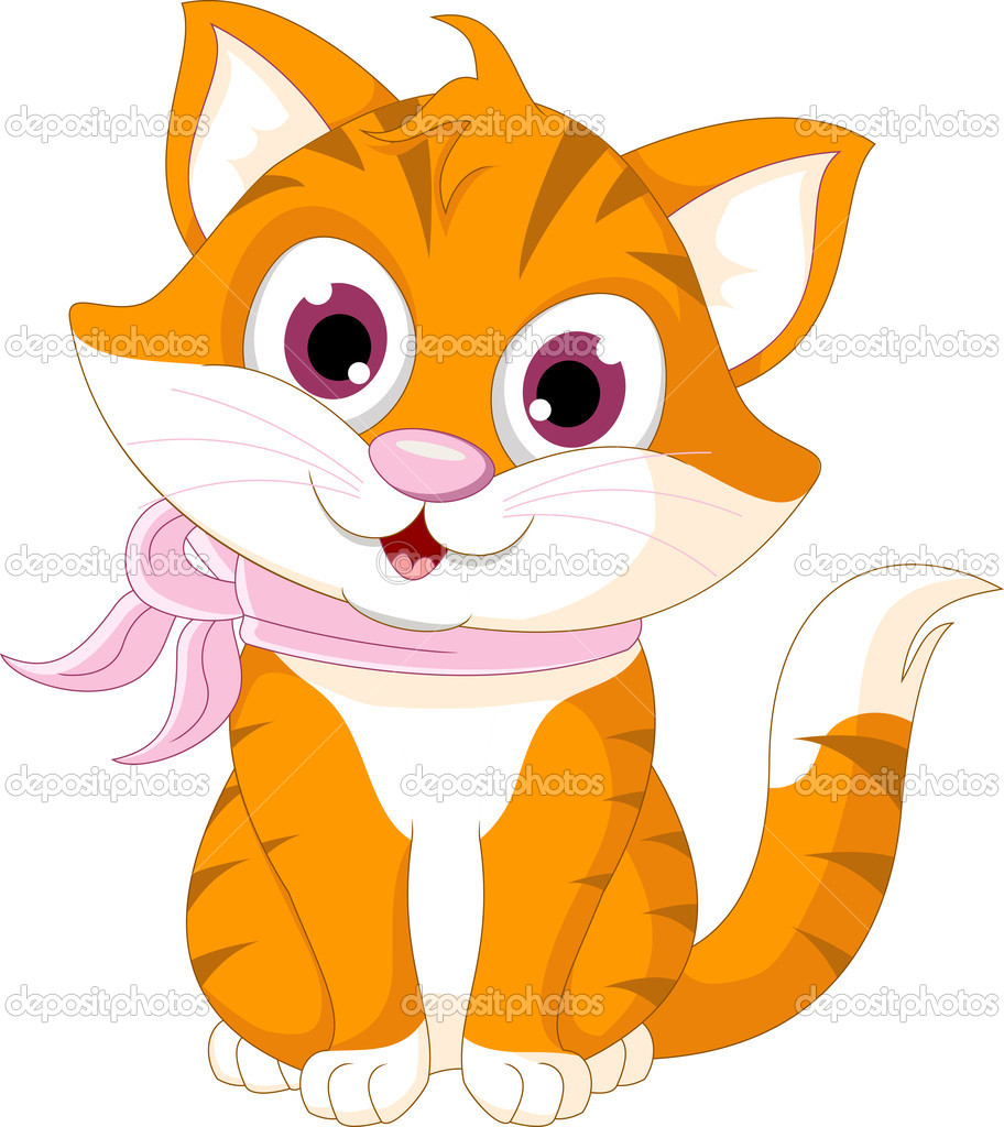 Cute Cartoon Cat Wallpaper - WallpaperSafari
