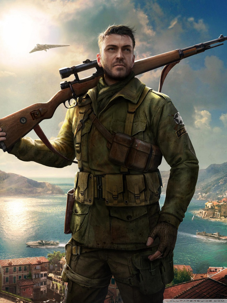 Sniper Elite 4 Game 4k 4K HD Desktop Wallpaper for 4K Ultra HD 768x1024