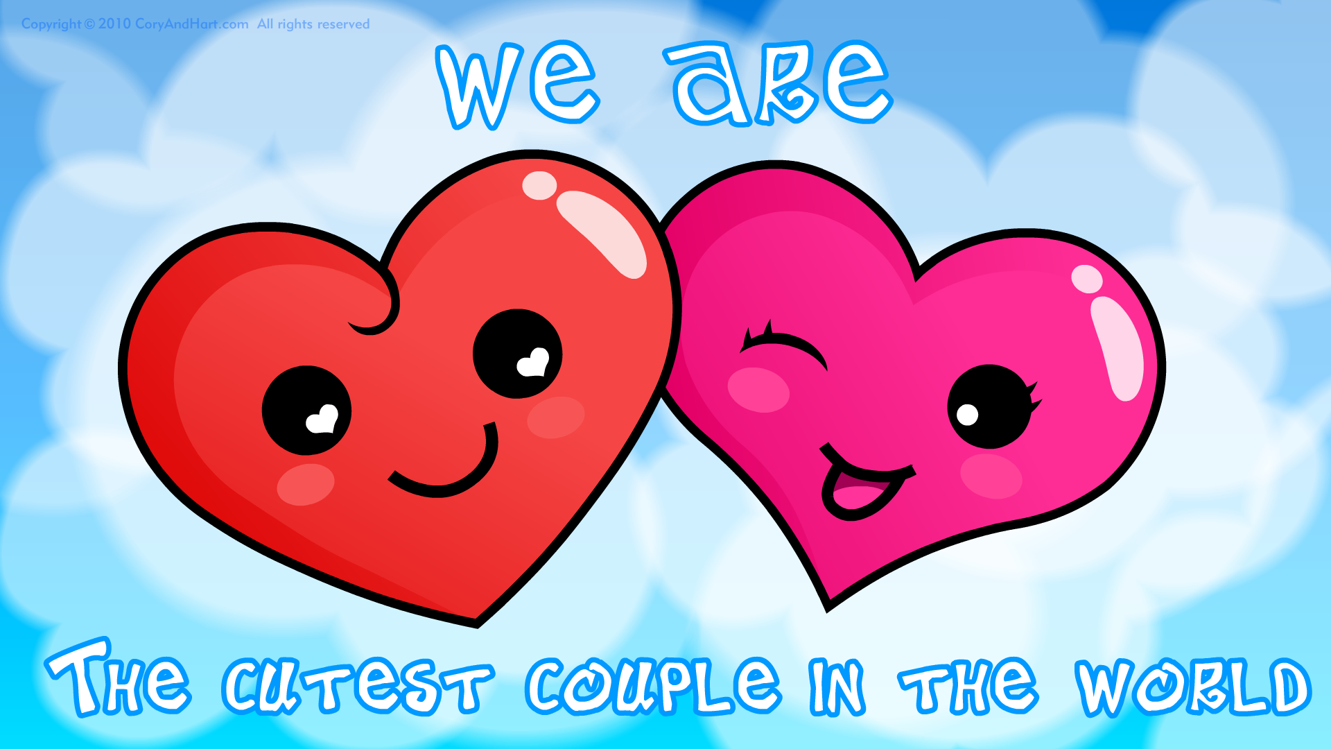 wallpaper Cute Love is all around 1920x1080