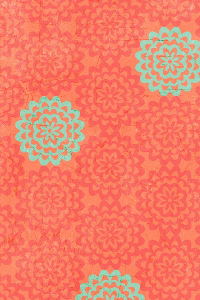 teal and coral wallpapers