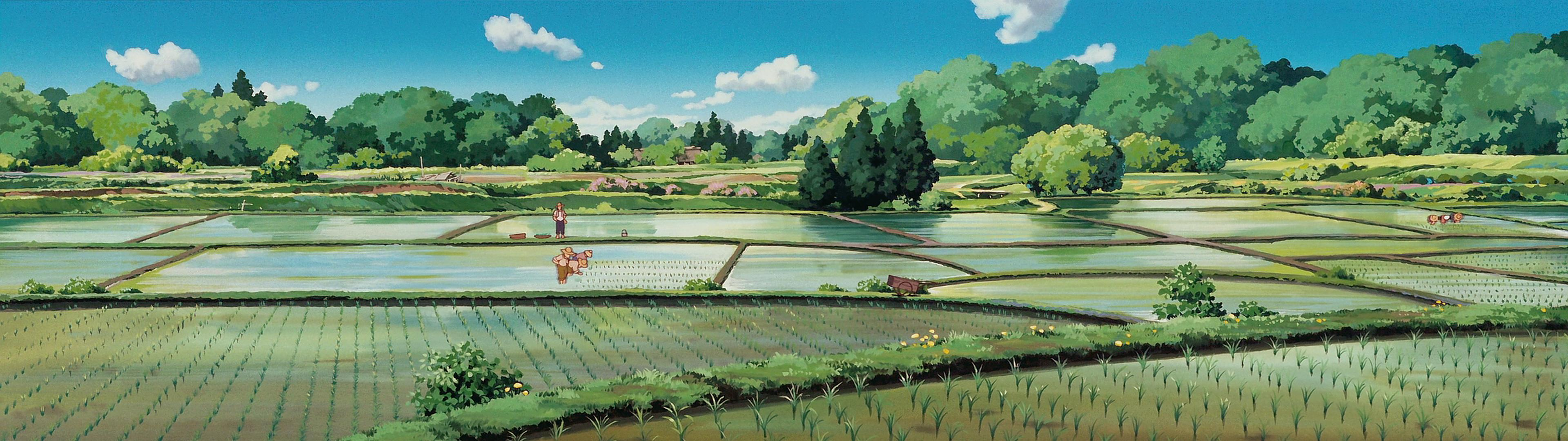 Studio Ghibli Dual Monitor Wallpaper Dump   Album on Imgur 3840x1080