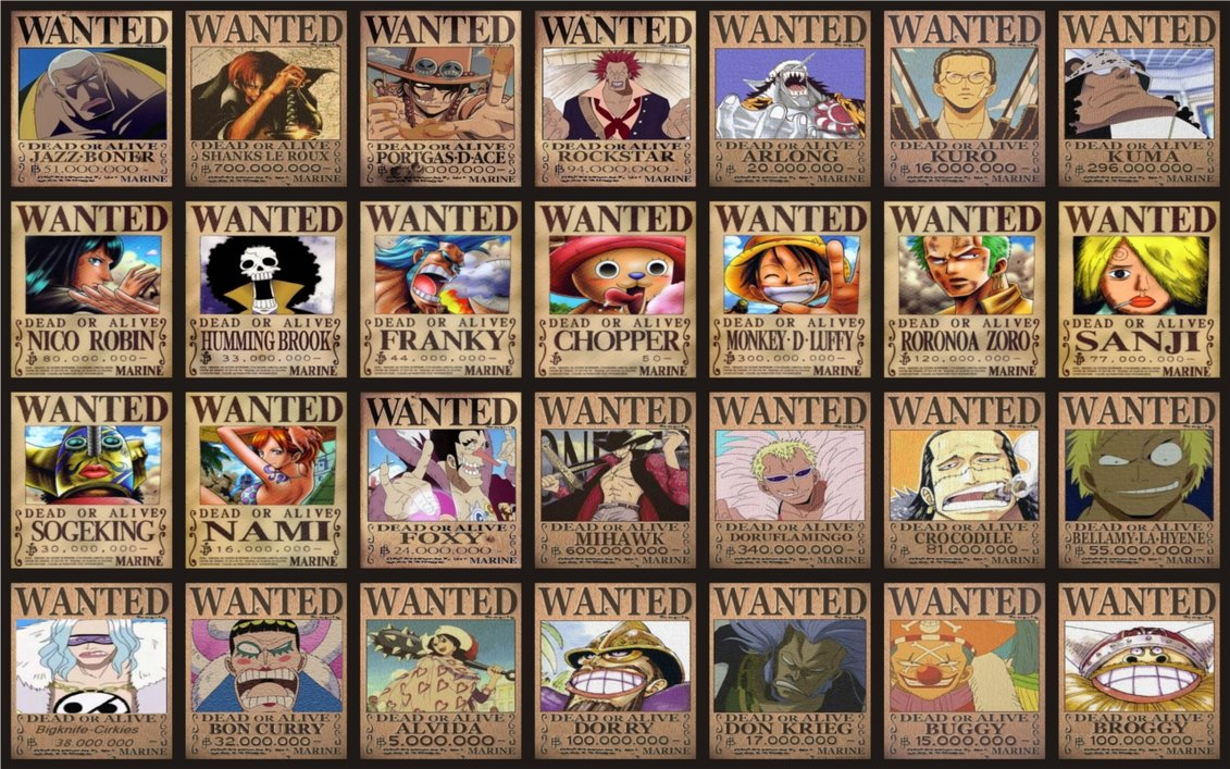 Anime Wallpaper One Piece Wanted