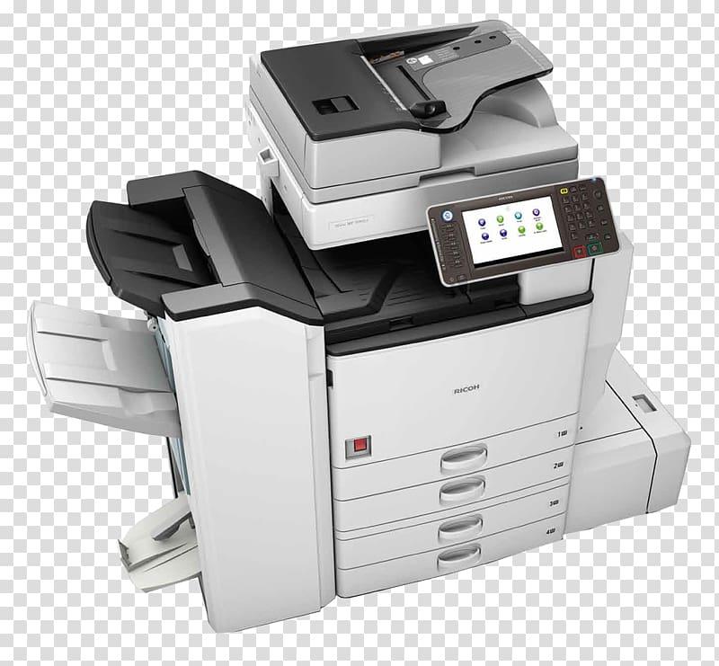 Ricoh Multi function printer copier Copying printer transparent 800x741