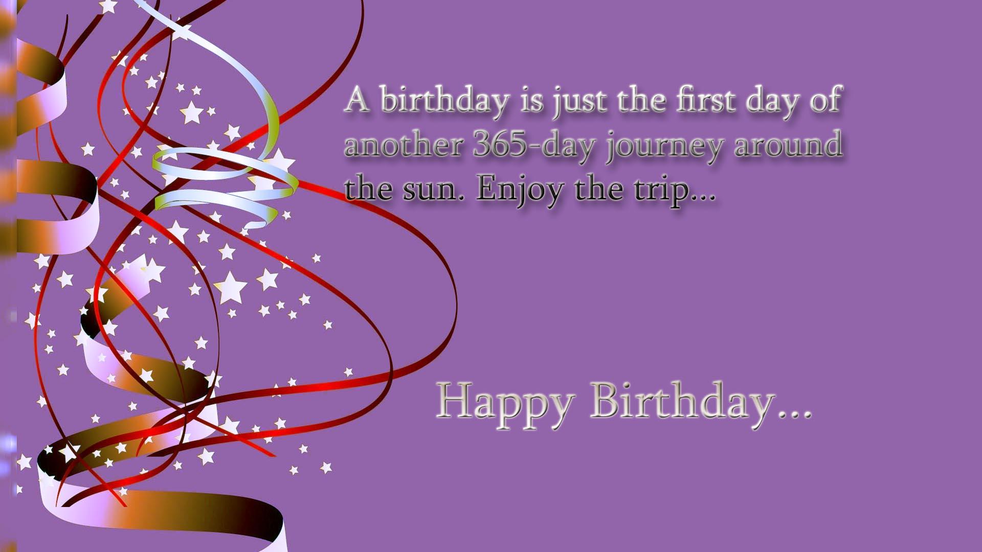 Happy birthday quotes on photo 1920x1080