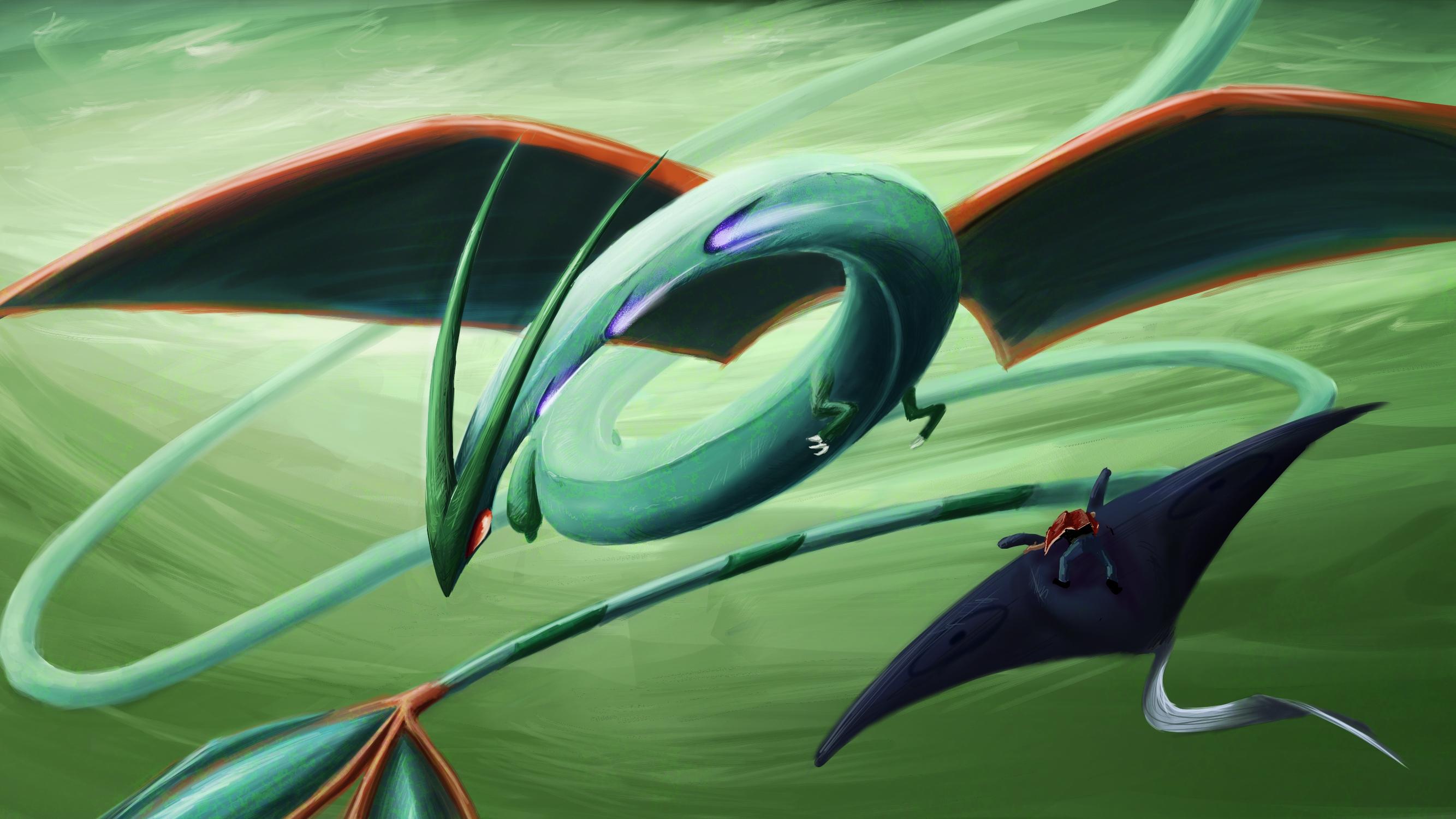 Pokemon flygon wallpaper 2667x1500 11014 WallpaperUP 2667x1500