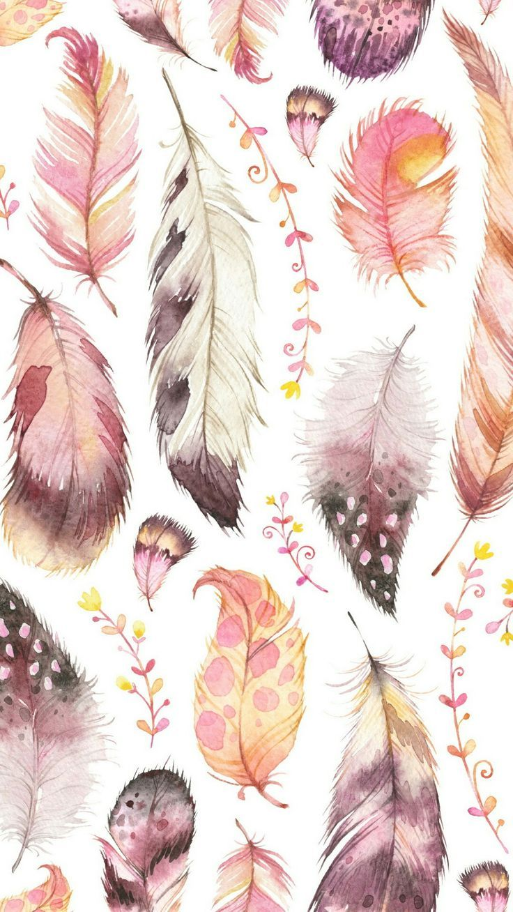 feathers pattern boho bohemian background backgrounds 736x1308