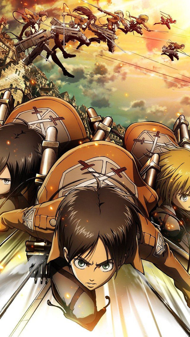 49 Attack On Titan Phone Wallpapers On Wallpapersafari