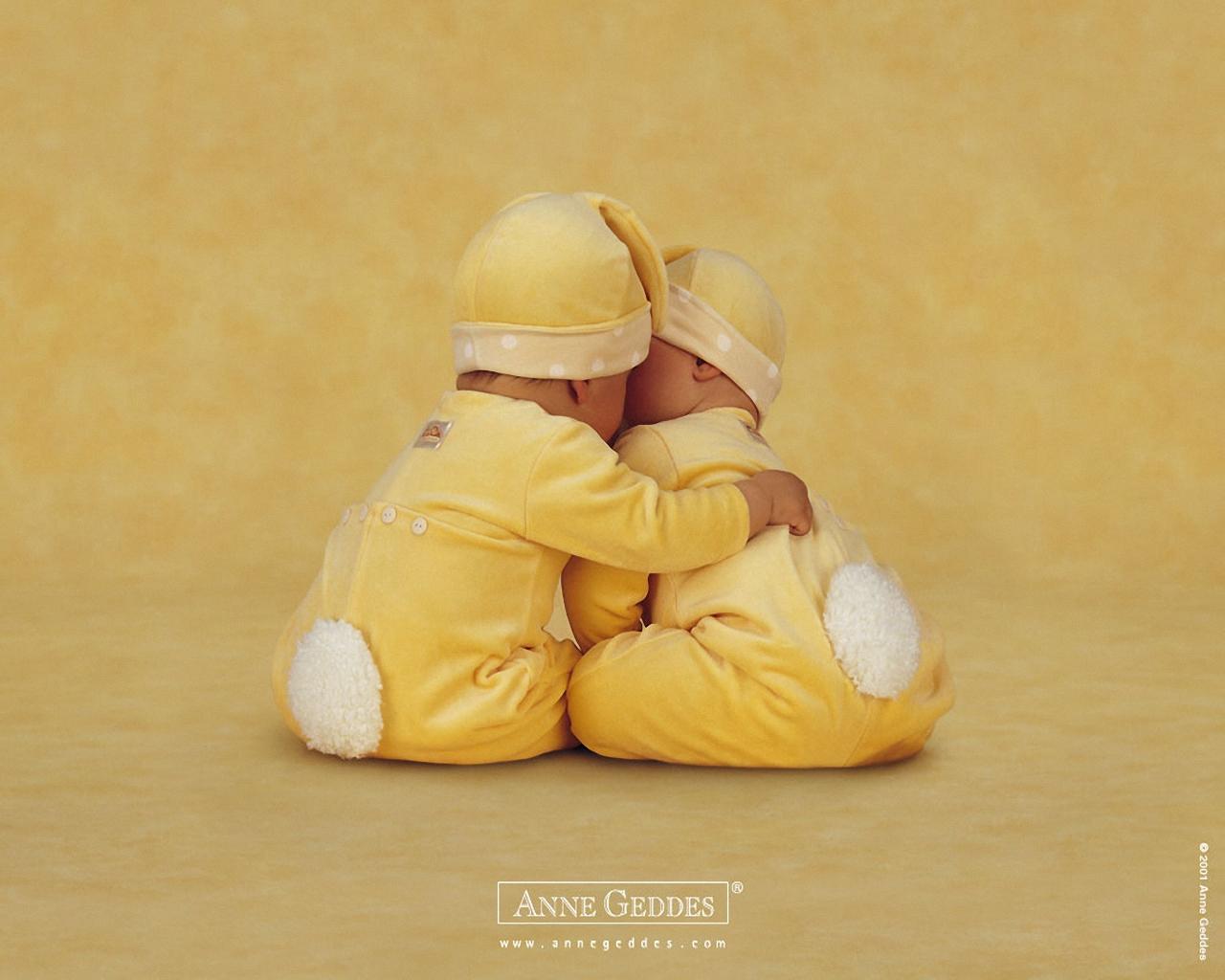 Anne Geddes Christmas Babies Wallpaper
