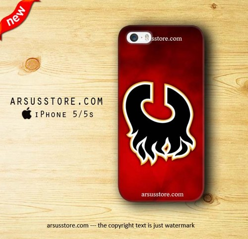 Calgary Flames Wallpaper iPhone 5 5s Case Dalmanaz   Accessories on 500x481