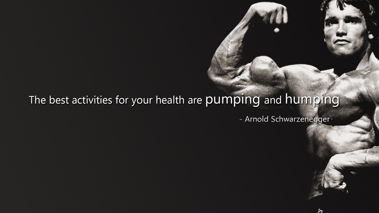 Arnold Iphone 5 Wallpaper Arnold schwarzenegger quote by 1280x720