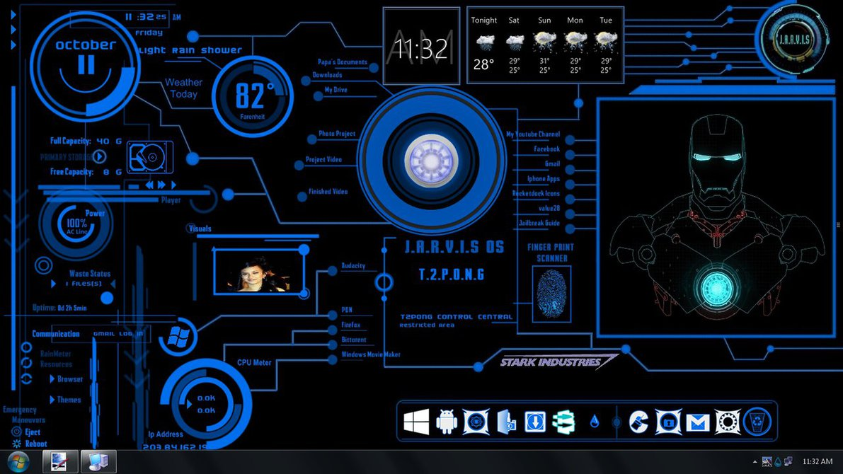 Displaying 16 Images For   Jarvis Animated Wallpaper 1191x670