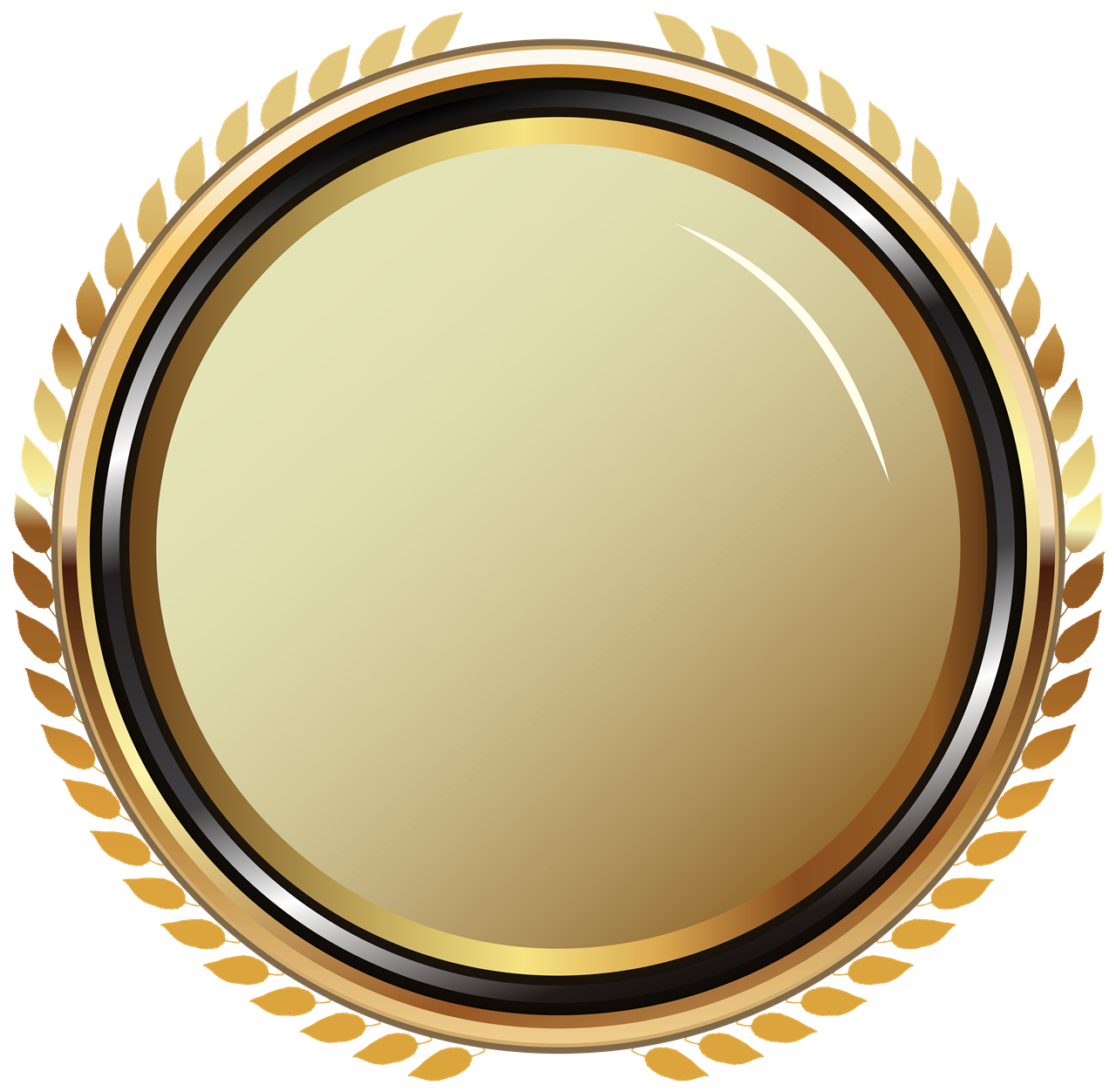 Golden Badge PNG Image Background PNG Arts 1280x1252
