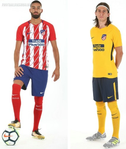 Atltico Madrid 201718 Nike Home and Away Kits FOOTBALL 426x500