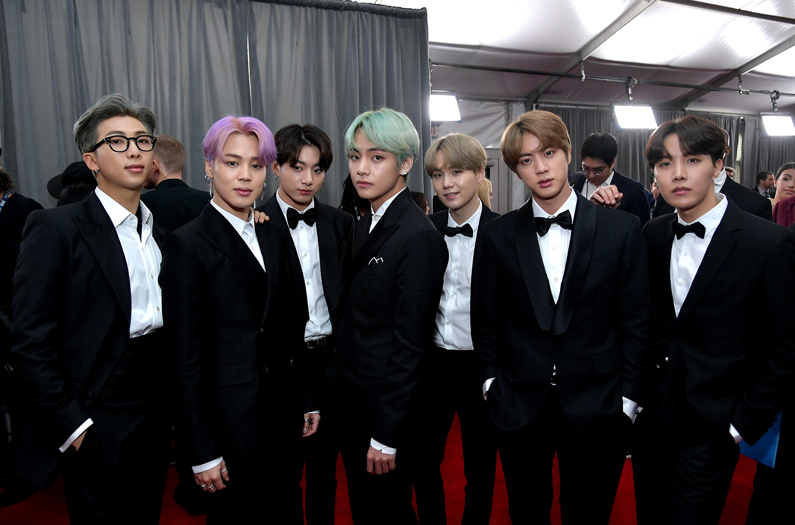 BTS At The 2019 Grammys Red Carpet See The Photos Billboard 1548x1024